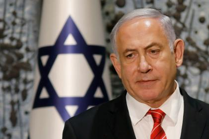 Benyamin Nétanyahou lors d'une conférence de presse à Jérusalem, le 25 septembre.