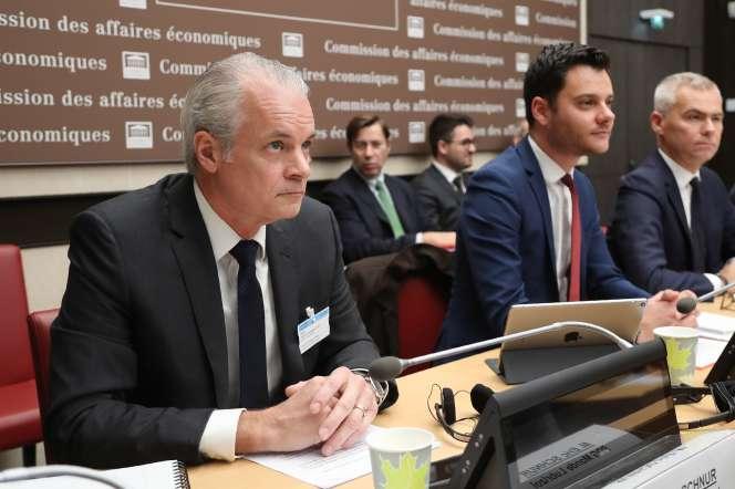 Eric Schnur, lors de son audition par les députés et les sénateurs à l'Assemblée nationale, le 22 octobre.