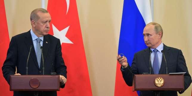 Poutine et Erdogan saluent un accord «décisif» et «historique» sur l'offensive en Syrie