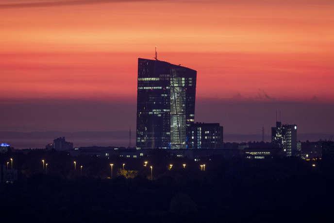 Le siège de la Banque centrale européenne, à Francfort (Allemagne), le 22 octobre 2019.