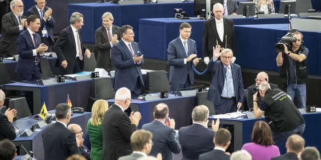 A Strasbourg, Jean-Claude Juncker fait ses adieux aux eurodéputés
