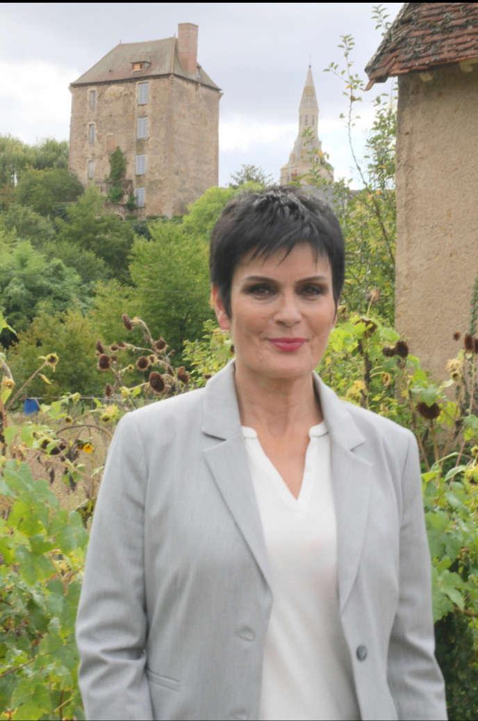 Patricia Darré, à La Châtre, sa ville natale où elle se présente aux élections municipales de 2020.