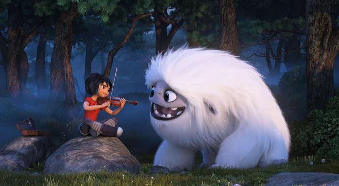 Les personnages Yi et Everest, héros d'« Abominable».