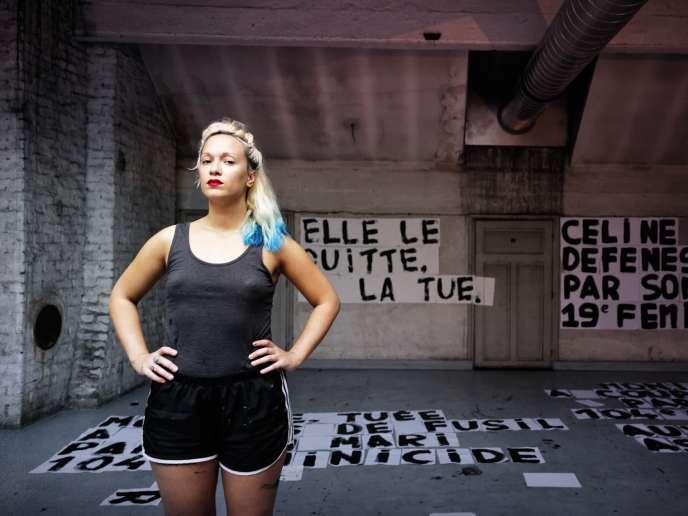 Marguerite Stern dans le squat artistique Jardin Denfert, dans le 14earrondissement parisien,en septembre.