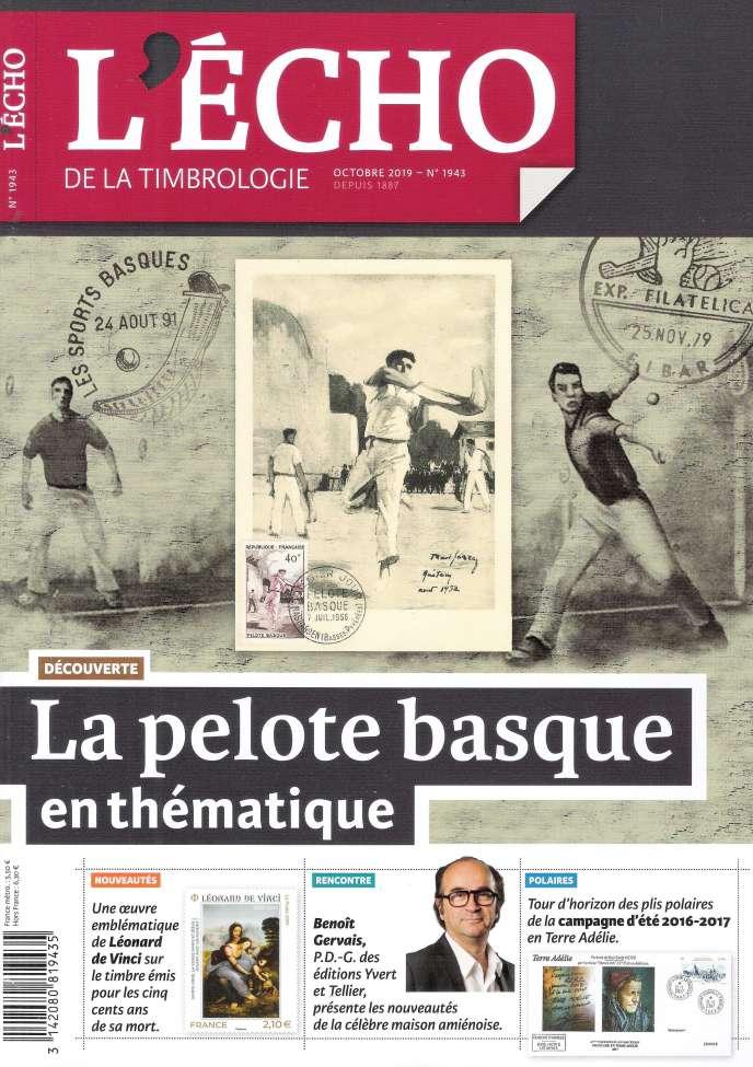 «L'Echo de la timbrologie» daté octobre, 84 pages, 5,50 euros. En vente par correspondance ou par abonnement auprès de l'éditeur, Yvert et Tellier.