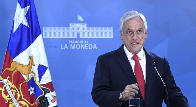 Le président chilien, Sebastian Piñera, le 22 octobre 2019.