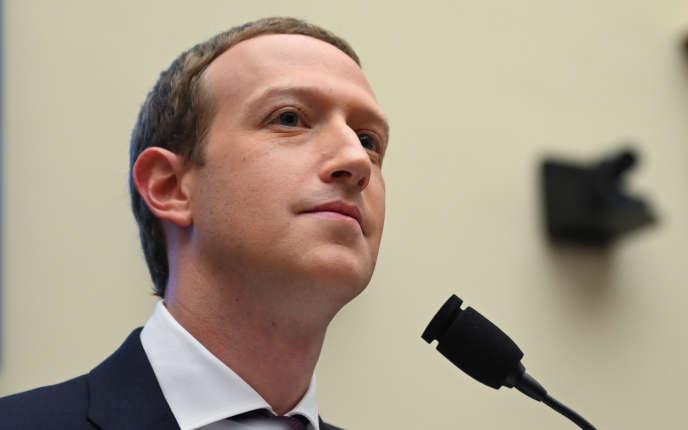 Mark Zuckerberg lors de son audience devant des élus américains, mercredi 23octobre.