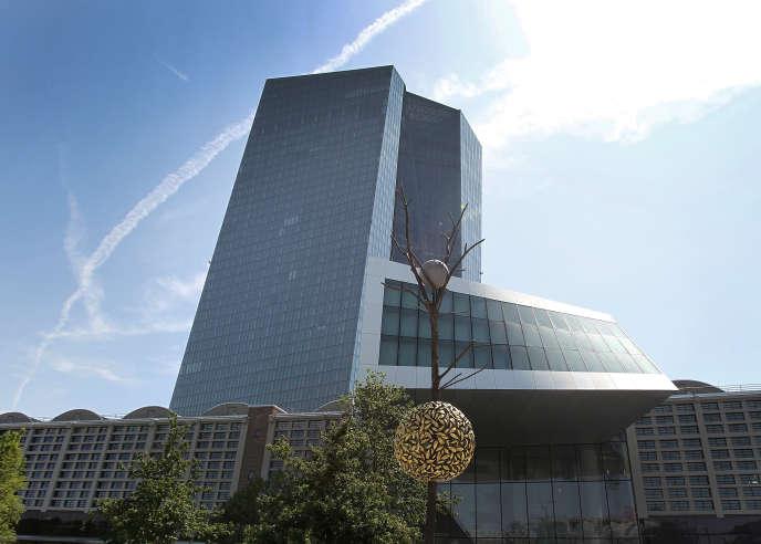 Au siège de la Banque centrale européenne, à Francfort, en juillet.