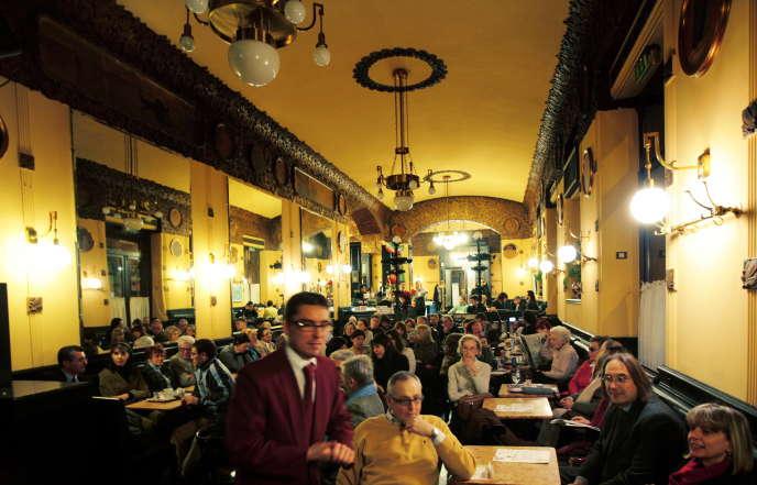 Au café San Marco, une institution triestine.