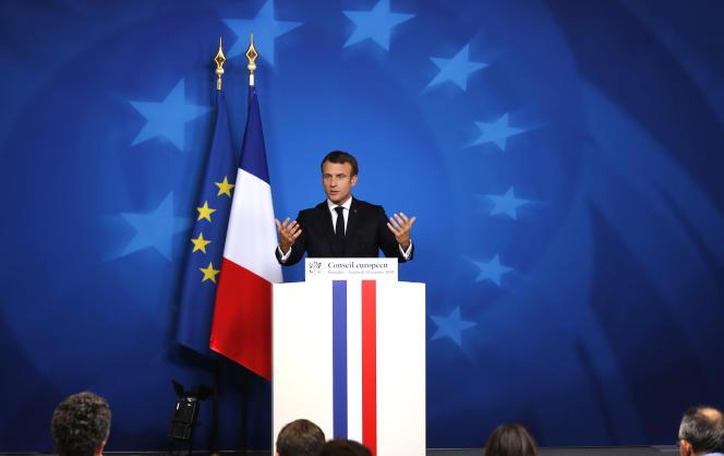 Emmanuel Macron lors d'un Conseil européen, à Bruxelles, le 18 octobre.