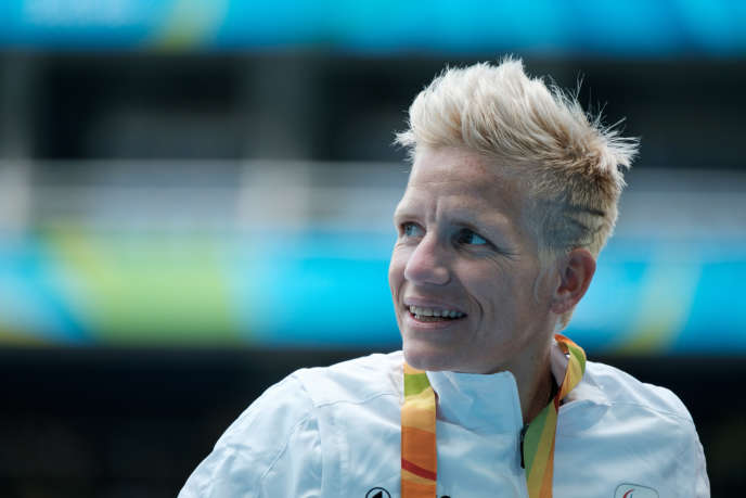 Marieke Vervoort lors des Jeux paralympiques àRio, le 10 septembre 2016.