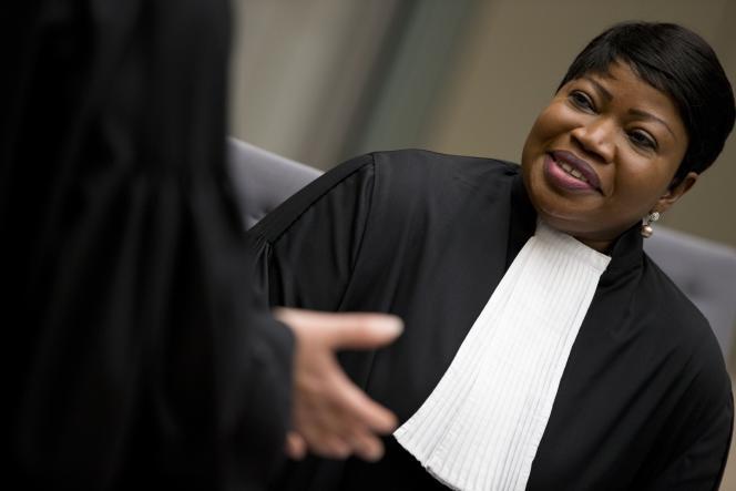 La procureure de la CPI, Fatou Bensouda, en 2018 à La Haye.
