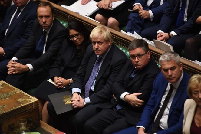 Boris Johnson lors des débats sur son accord avec l'Union européenne, à la Chambre des communes, le 22 octobre.