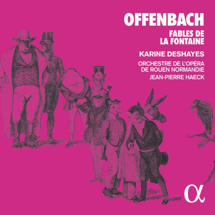 Pochette de l'album« Fables de la Fontaine», de Jacques Offenbach.