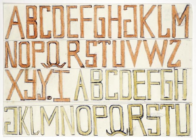 ABCD, d'Alfred Leuzinger, visible au Crédac.