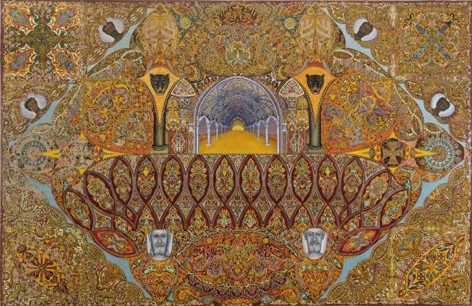 La Toile judéo-chrétienne (1937), de Victor Simon, exposée au LaM.