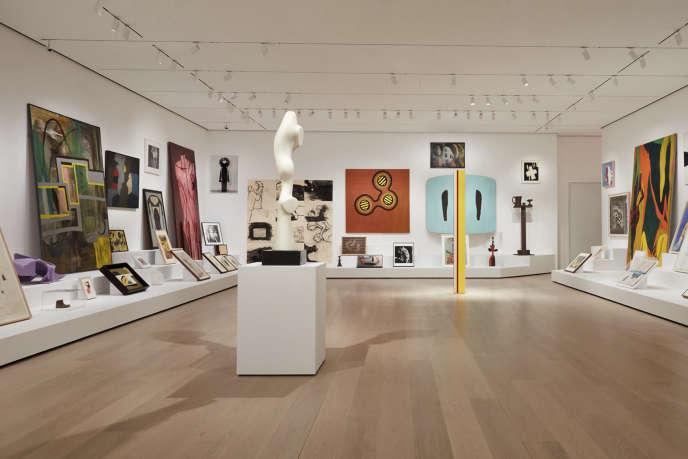 L'installation «The Shape of Shape», de l'artiste afro-américaine Amy Sillman présentée auMoMA de New York.