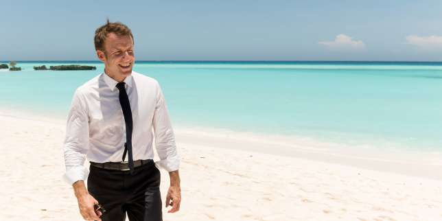 Emmanuel Macron, premier président à poser le pied sur la Grande Glorieuse