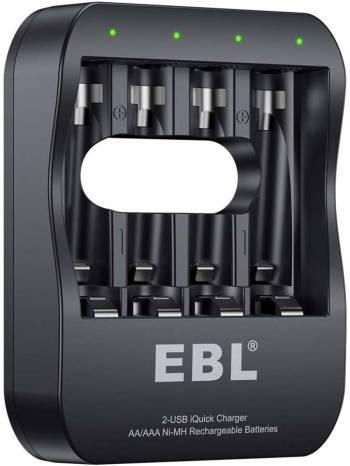 Pour ceux qui souhaitent recharger leurs piles via USB Le 6201 d'EBL