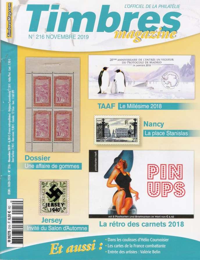 « Timbres magazine », 108 pages, en vente en kiosques, 6,50 euros.