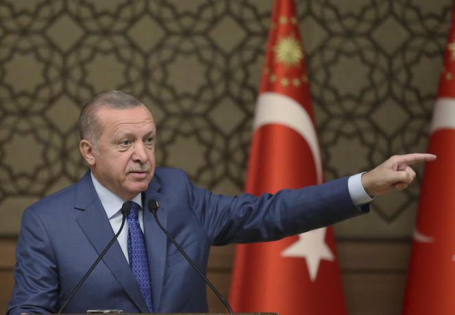 Le président turc Recep Tayyip Erdogan à Ankara, le 24 octobre.