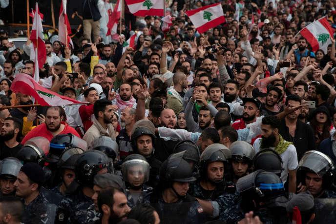 Manifestation à Beyrouth, le 24 octobre 2019.