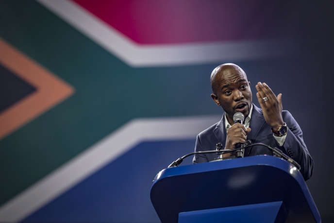Le leader de l'Alliance démocratique, Mmusi Maimane, à Pretoria, le 7 avril 2018.