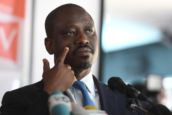 Guillaume Soro, l'ancien président de l'Assemblée nationale, à Abidjan, le 15février 2019.