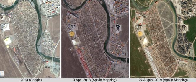 Les images satellite montrant la démolition de Yarchen Gar.