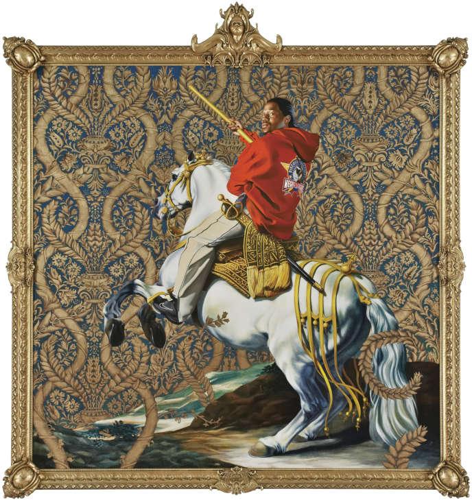 « Portrait équestre du comte-duc d'Olivares» de Kehinde Wiley, 2005. Huile sur toile.