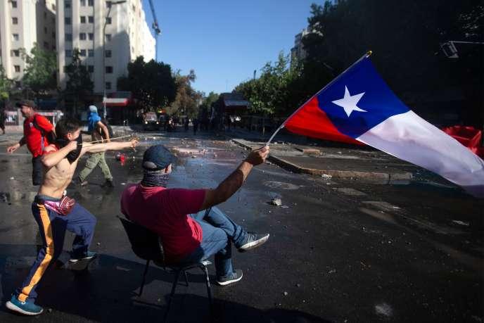 Manifestation à Santiago du Chili, le 24 octobre.