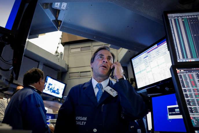 «Depuis avril maintenant, les marchés d'actions ne montent plus» (le New York Stock Exchange, New York, le 25 octobre).