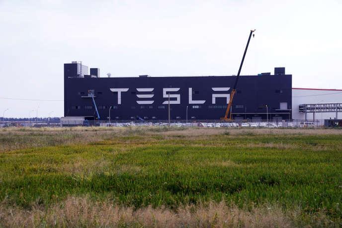 La Gigafactory de Tesla, à Shanghaï, le 18 octobre.