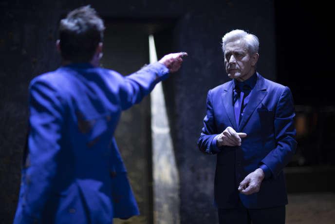 Didier Sandre dans « Electre / Oreste » d'Euripide, mis en scène Ivo van Hove, le 22 avril 2019, à la salle Richelieu à Paris, France.