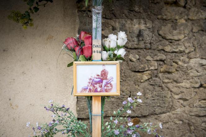 En hommage à Chris, à Montreuil-Bellay (Maine-et-Loire).