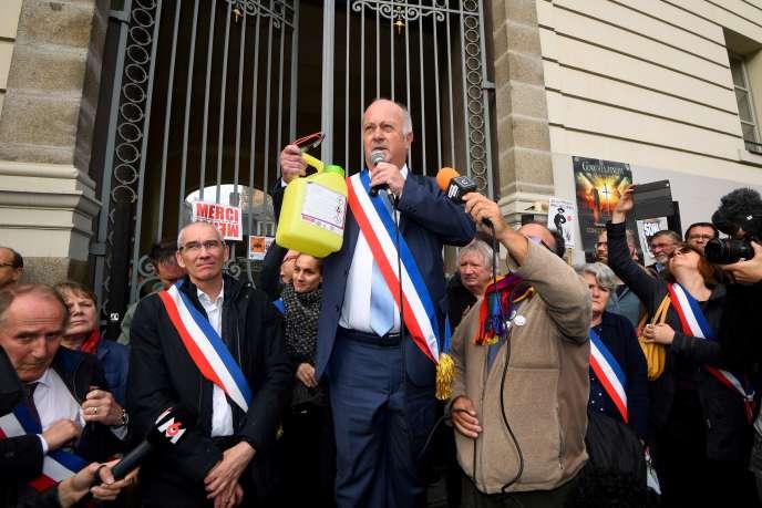 Daniel Cueff au tribunal administratif de Rennes,le 14 octobre.