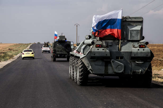 Des patrouilles militaires russes à la frontière turco-syrienne, le 25 octobre.