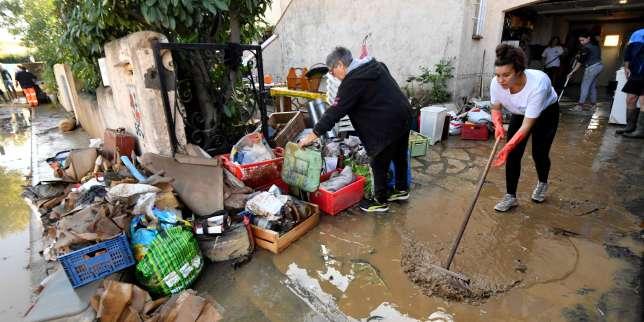 A Villeneuve-lès-Béziers, les habitants nettoient et s'interrogent sur les causes de l'inondation