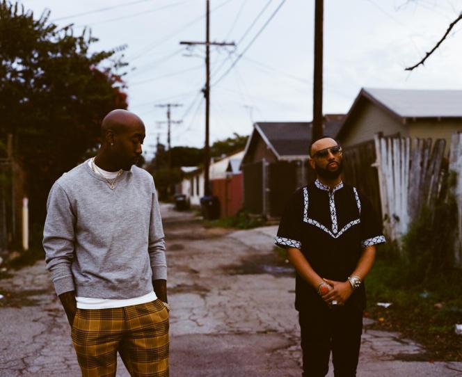 Le rappeur Freddie Gibbs et le producteur Madlib, en mai, à Los Angeles (Californie).
