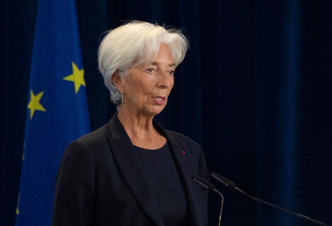 Christine Lagarde, le 28 octobre, à Francfort.