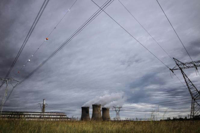 La centrale électrique de Hendrina, en Afrique du Sud, en février 2018.