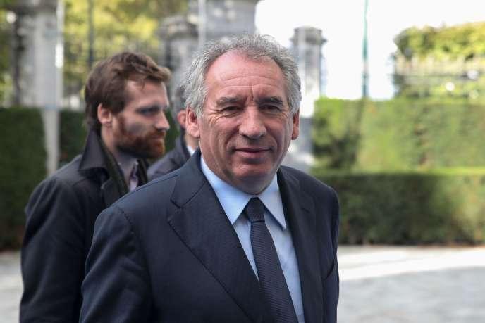 François Bayrou, président du MoDem, le 17 octobre à Bruxelles.