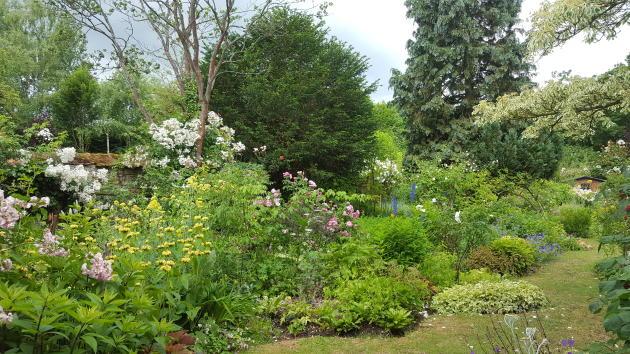 Le jardin personnel d'André Eve, à Pithiviers.