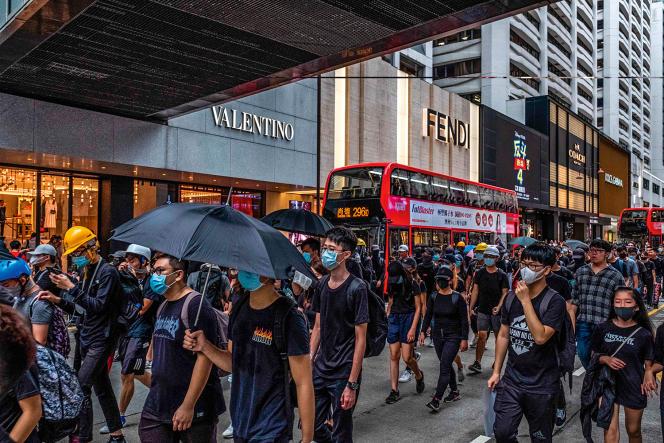 Une manifestation dans le quartierde Kowloon,le 3 août 2019.