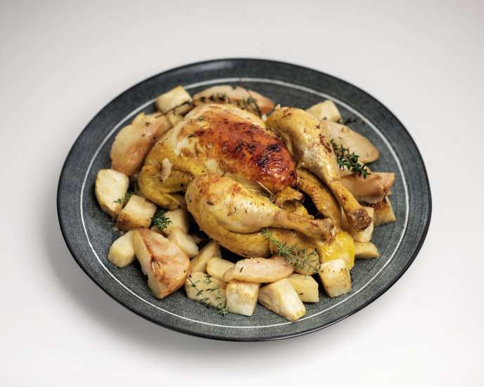 1c452e2 2019110245.0.2374825255affaire 2 web - Chicken with pear and celery: the recipe of Camille Goutal - Le Monde