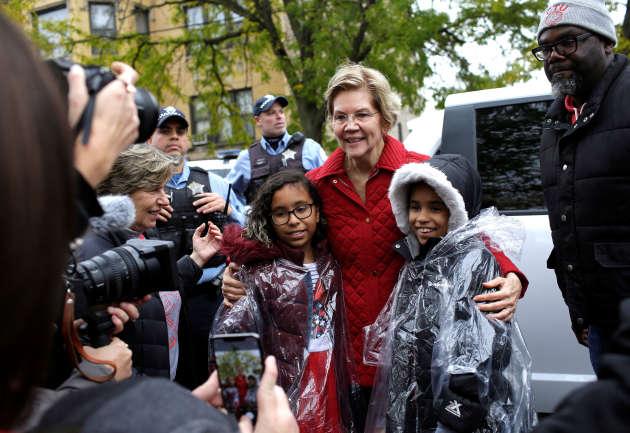 Elizabeth Warren, à Chicago, le 22 octobre.