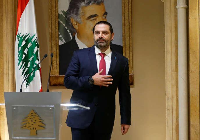 Saad Hariri après sa démission, à Beyrouth, le 29 octobre.