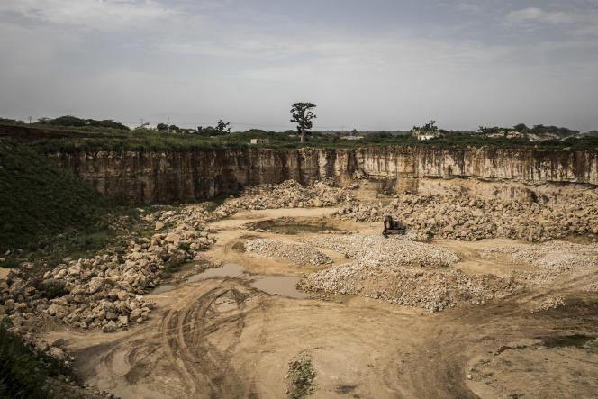 Une carrière de calcaire à Bandia, au Sénégal, le 25septembre 2019.