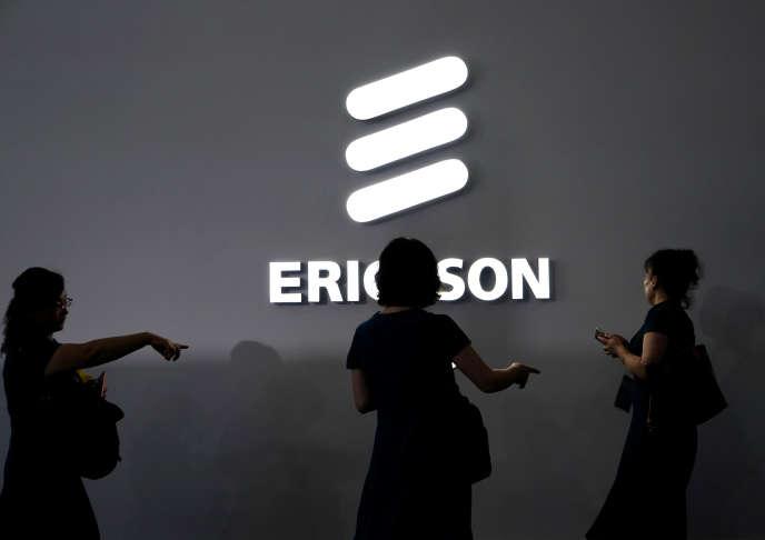 Ericsson au Mobile World Congress (MWC) à Shanghaï, en Chine, le 28 juin.