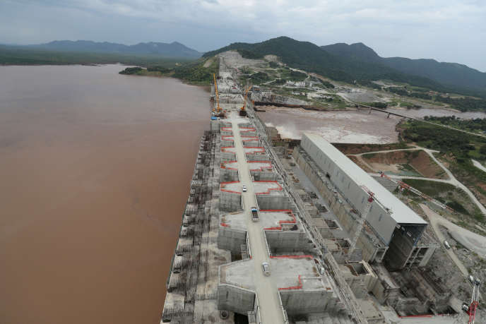 Le chantier du barrage de la Renaissance, en Ethiopie, le 26septembre 2019.